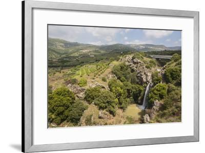 Sa'Ar Waterfall at the Hermon Nature Reserve, Golan Heights, Israel, Middle East-Yadid Levy-Framed Photographic Print