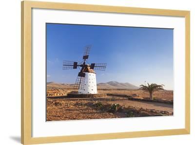Windmill, El Cotillo, Fuerteventura, Canary Islands, Spain, Atlantic, Europe-Markus Lange-Framed Photographic Print
