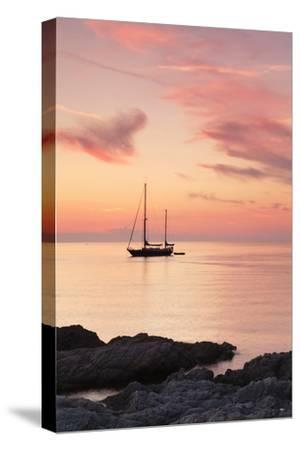 Sunset at the Coast Near Centuri Port, Corsica, France, Mediterranean, Europe-Markus Lange-Stretched Canvas Print