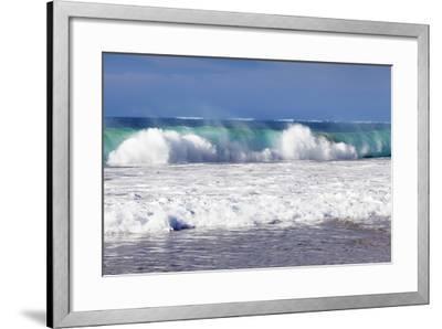 Waves at the Beach, Playa Del Castillo, El Cotillo-Markus Lange-Framed Photographic Print