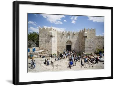 Damascus Gate in the Old City, UNESCO World Heritage Site, Jerusalem, Israel, Middle East-Yadid Levy-Framed Photographic Print