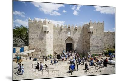 Damascus Gate in the Old City, UNESCO World Heritage Site, Jerusalem, Israel, Middle East-Yadid Levy-Mounted Photographic Print