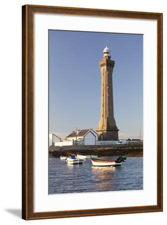 Lighthouse of Phare D'Eckmuhl, Penmarc'H, Finistere, Brittany, France, Europe-Markus Lange-Framed Photographic Print