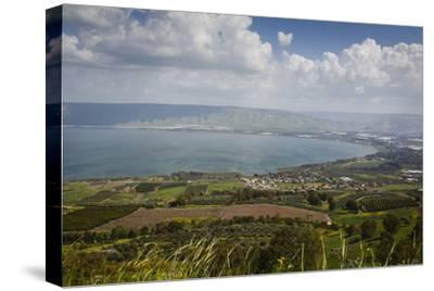 View over the Sea of Galilee (Lake Tiberias), Israel. Middle East-Yadid Levy-Stretched Canvas Print