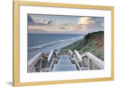 Red Cliff, Kampen, Sylt, North Frisian Islands, Nordfriesland, Schleswig Holstein, Germany, Europe-Markus Lange-Framed Photographic Print