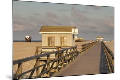 Pier and Sandy Beach-Markus Lange-Mounted Photographic Print