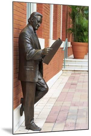 R. Manteiga Statue in Centro Ybor, Tampa, Florida, United States of America, North America-Richard Cummins-Mounted Photographic Print