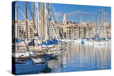 View across the Vieux Port-Nico Tondini-Stretched Canvas Print