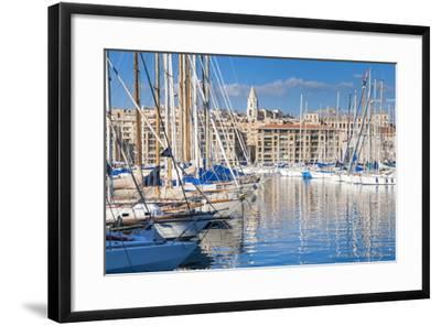 View across the Vieux Port-Nico Tondini-Framed Photographic Print