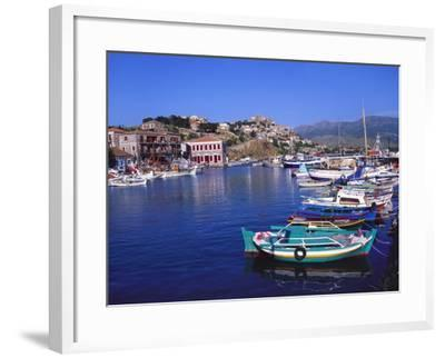 Sailboats Moored at Molyvos Harbour, Lesvos, Greece-Jeremy Lightfoot-Framed Photographic Print