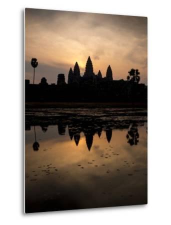 Sunrise over Angkor Wat-Ben Pipe-Metal Print