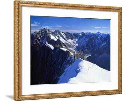 Mont Blanc Mountain Range, Alps, Haute Savoie, France-Roy Rainford-Framed Photographic Print