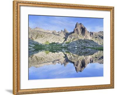 Pic Lombarduccio Reflecting in Lac De Melo-Markus Lange-Framed Photographic Print