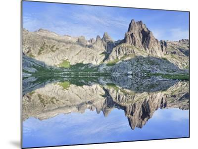 Pic Lombarduccio Reflecting in Lac De Melo-Markus Lange-Mounted Photographic Print