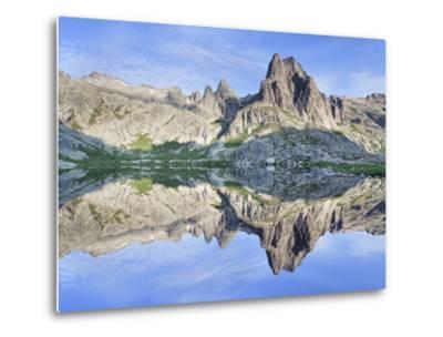 Pic Lombarduccio Reflecting in Lac De Melo-Markus Lange-Metal Print