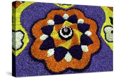 Floral Decorations During Onam Festival, Kerala, India, Asia-Balan Madhavan-Stretched Canvas Print