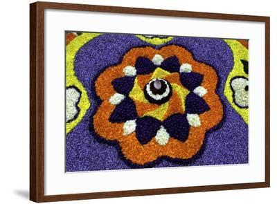 Floral Decorations During Onam Festival, Kerala, India, Asia-Balan Madhavan-Framed Photographic Print