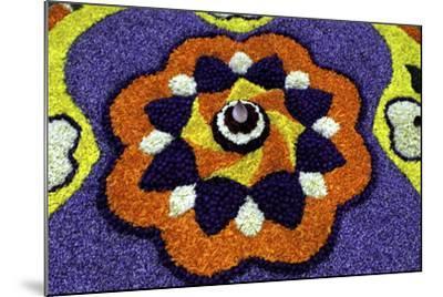 Floral Decorations During Onam Festival, Kerala, India, Asia-Balan Madhavan-Mounted Photographic Print
