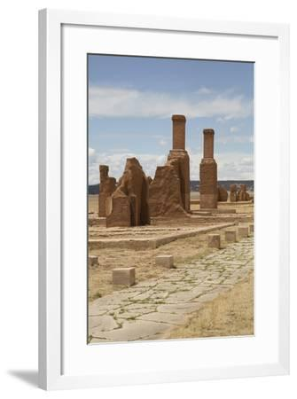 Remains of Buildings at Fort Union National Monument-Richard Maschmeyer-Framed Photographic Print