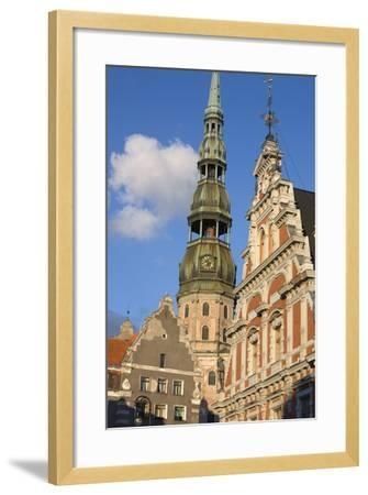 St. Peter's Church and the Brotherhood of Blackheads House-Doug Pearson-Framed Photographic Print