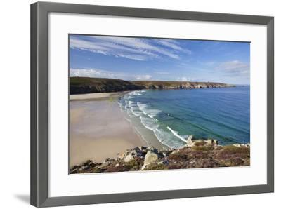 View from Pointe Du Van over the Baie Des Trepasses to the Pointe Du Raz-Markus Lange-Framed Photographic Print
