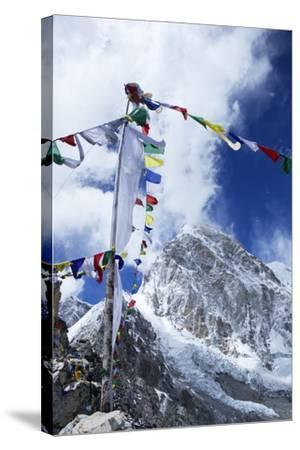 Summit of Kala Patthar Looking to Pumo Ri-Peter Barritt-Stretched Canvas Print