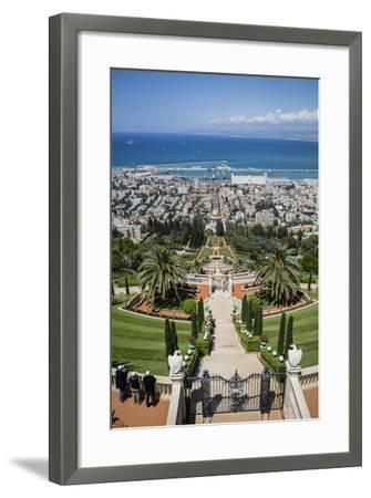 View over the Bahai Gardens, Haifa, Israel, Middle East-Yadid Levy-Framed Photographic Print