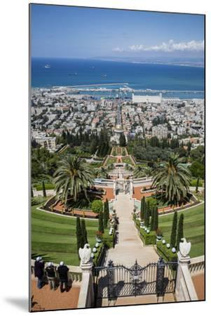 View over the Bahai Gardens, Haifa, Israel, Middle East-Yadid Levy-Mounted Photographic Print