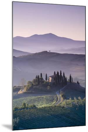 Iconic Tuscan Farmhouse, Val D' Orcia, UNESCO World Heritage Site, Tuscany, Italy, Europe-Doug Pearson-Mounted Photographic Print