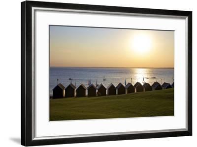 Gurnard Beach, Gurnard, Isle of Wight, England, United Kingdom, Europe-Neil Farrin-Framed Photographic Print
