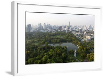 City Skyline with Lumphini Park-Lee Frost-Framed Photographic Print