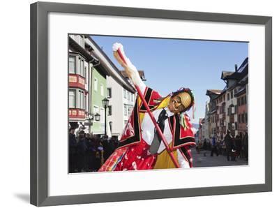 Man in Traditional Costume (Federahannes)-Markus Lange-Framed Photographic Print