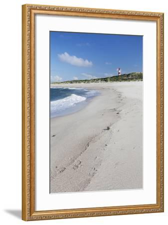 Beach and Lighthouse List Ost-Markus Lange-Framed Photographic Print