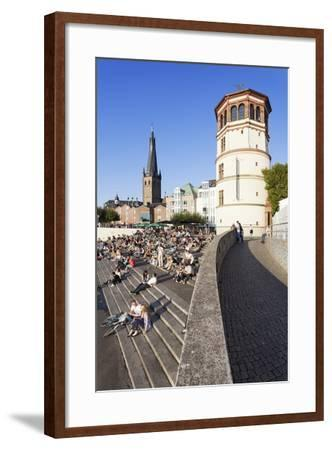 People on Stairs by the Rhine-Markus Lange-Framed Photographic Print