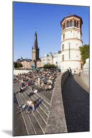 People on Stairs by the Rhine-Markus Lange-Mounted Photographic Print