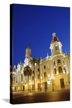 Town Hall, Plaza Del Ayuntamiento, Valencia, Spain, Europe-Neil Farrin-Stretched Canvas Print
