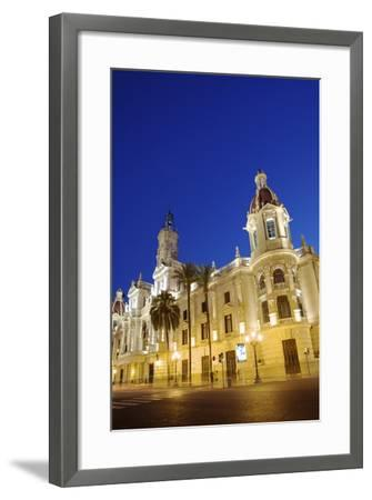 Town Hall, Plaza Del Ayuntamiento, Valencia, Spain, Europe-Neil Farrin-Framed Photographic Print