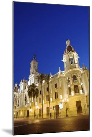 Town Hall, Plaza Del Ayuntamiento, Valencia, Spain, Europe-Neil Farrin-Mounted Photographic Print