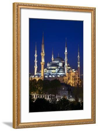 Blue Mosque (Sultan Ahmet Camii), UNESCO World Heritage Site, at Dusk, Istanbul, Turkey, Europe-Neil Farrin-Framed Photographic Print