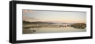 Panoramic View Back to the Harbour at Lyme Regis Taken from the Cobb-John Woodworth-Framed Photographic Print