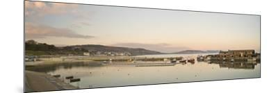 Panoramic View Back to the Harbour at Lyme Regis Taken from the Cobb-John Woodworth-Mounted Photographic Print