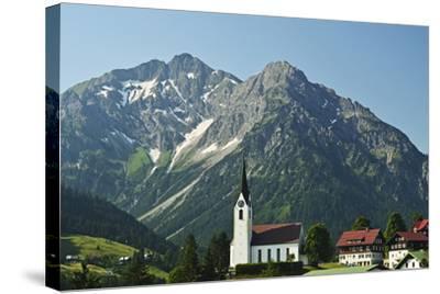 Hirschegg, Kleines Walsertal, Austria, Europe-Jochen Schlenker-Stretched Canvas Print