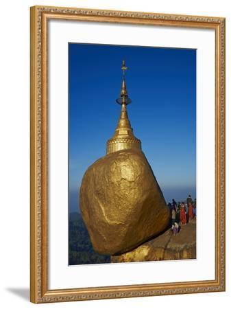 Monks and Pilgrims, Kyaiktiyo Golden Rock, Mon State, Myanmar (Burma), Asia-Tuul-Framed Photographic Print
