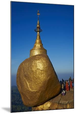 Monks and Pilgrims, Kyaiktiyo Golden Rock, Mon State, Myanmar (Burma), Asia-Tuul-Mounted Photographic Print
