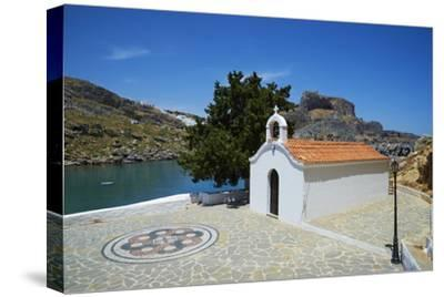 St. Paul Beach, Lindos, Rhodes, Dodecanese, Greek Islands, Greece, Europe-Tuul-Stretched Canvas Print