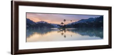 Kandy Lake and the Island at Sunrise, Kandy, Central Province, Sri Lanka, Asia-Matthew Williams-Ellis-Framed Photographic Print