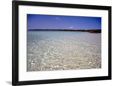 Clear Water Off Bangaram Island, Lakshadweep Islands, India, Indian Ocean, Asia-Balan Madhavan-Framed Photographic Print