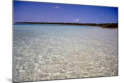 Clear Water Off Bangaram Island, Lakshadweep Islands, India, Indian Ocean, Asia-Balan Madhavan-Mounted Photographic Print