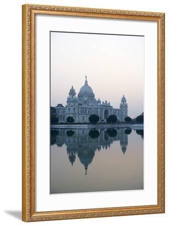 Victoria Memorial, Chowringhee, Kolkata (Calcutta), West Bengal, India, Asia-Bruno Morandi-Framed Photographic Print