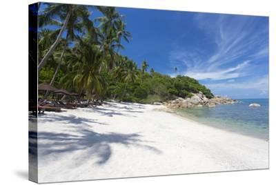 Private Secluded Beach Fringed by Palm Trees at the Silavadee Pool Spa Resort Near Lamai-Lee Frost-Stretched Canvas Print